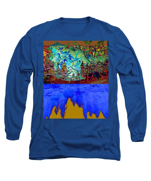 Illusion Of Lake And Forest Long Sleeve T-Shirt