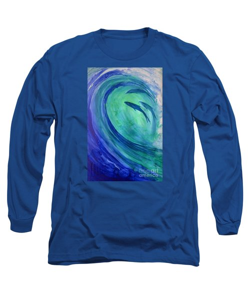 Inside The Curl Long Sleeve T-Shirt by Joan Hartenstein