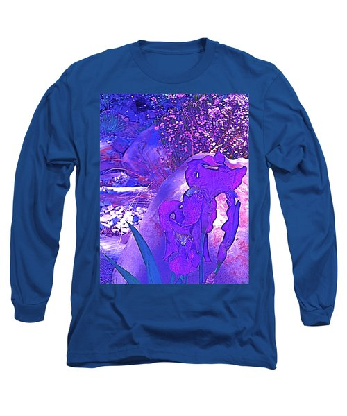 Iris 2 Long Sleeve T-Shirt by Pamela Cooper