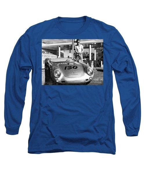 Last Picture Taken Of James Dean Long Sleeve T-Shirt