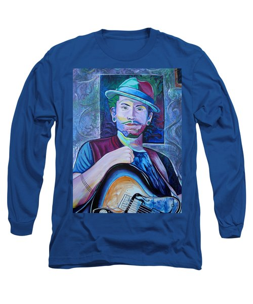 Long Sleeve T-Shirt featuring the painting John Butler by Joshua Morton