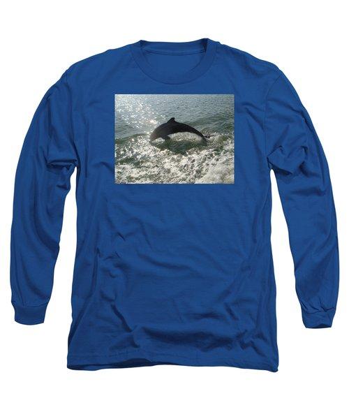 Long Sleeve T-Shirt featuring the photograph Jumping For Joy by Karen Zuk Rosenblatt