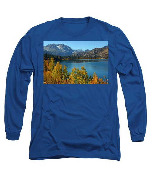 June Lake Blues And Golds Long Sleeve T-Shirt by Lynn Bauer
