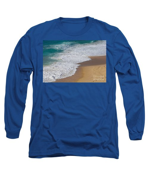 Just Waves And Sand By Kaye Menner Long Sleeve T-Shirt