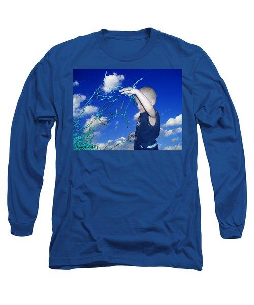 Kaleb Takes Over The World Long Sleeve T-Shirt by Verana Stark