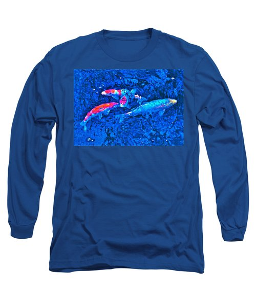 Long Sleeve T-Shirt featuring the photograph Koi 2 by Pamela Cooper