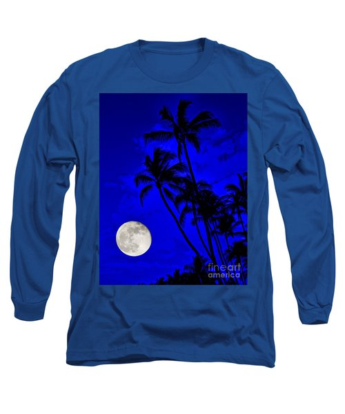 Kona Moon Rising Long Sleeve T-Shirt by David Lawson