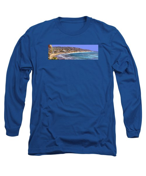 Long Sleeve T-Shirt featuring the photograph Laguna Beach Coast Panoramic by Jim Carrell