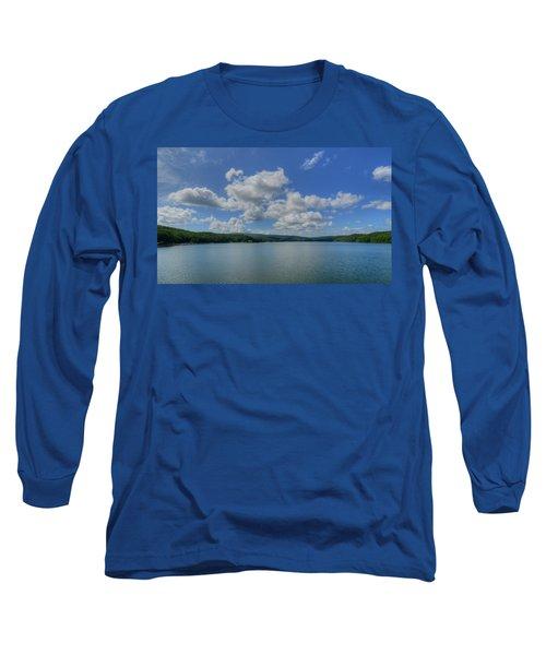 Lake Arrowhead Long Sleeve T-Shirt by Julia Wilcox