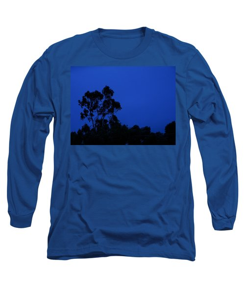 Blue Landscape Long Sleeve T-Shirt by Mark Blauhoefer