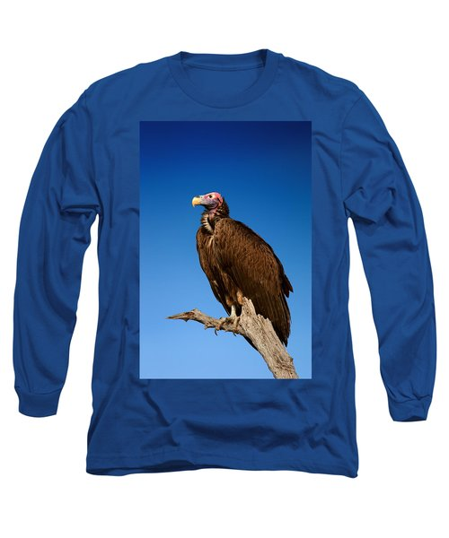 Lappetfaced Vulture Against Blue Sky Long Sleeve T-Shirt
