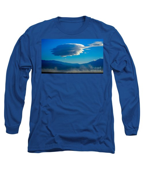 Lenticular Dust Storm Long Sleeve T-Shirt by Angela J Wright