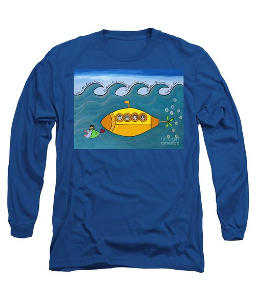 Lets Sing The Chorus Now - The Beatles Yellow Submarine Long Sleeve T-Shirt