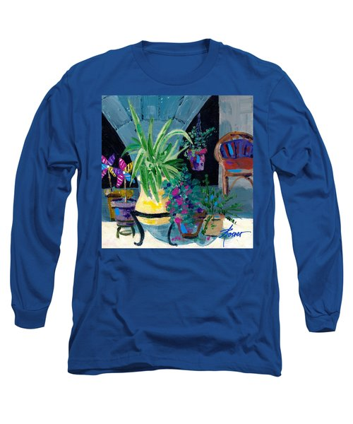 Library Courtyard-rhodes Old Town Long Sleeve T-Shirt