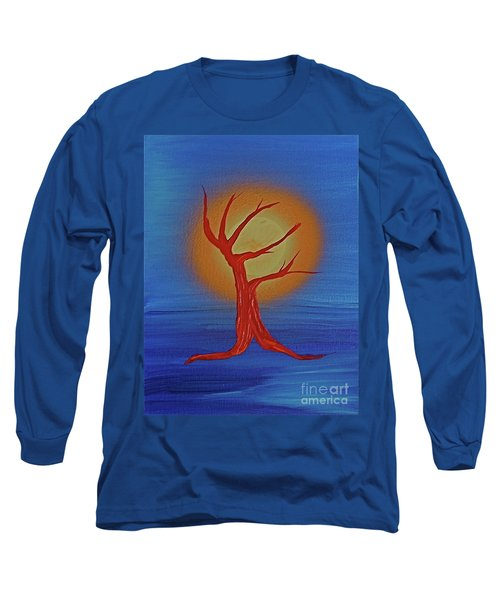 Long Sleeve T-Shirt featuring the painting Life Blood By Jrr by First Star Art
