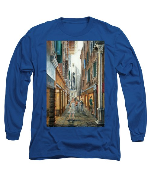 Light From San Salvador Merceria Del Capitello San Marco Venezia Long Sleeve T-Shirt