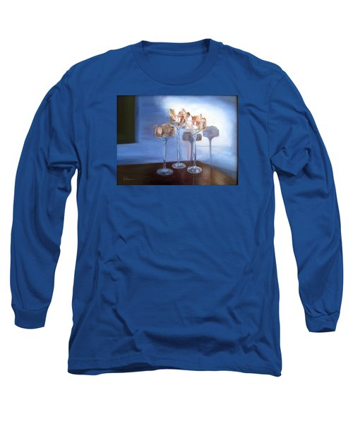 Light Glass And Shells Long Sleeve T-Shirt by LaVonne Hand