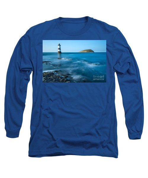 Lighthouse At Penmon Point Long Sleeve T-Shirt
