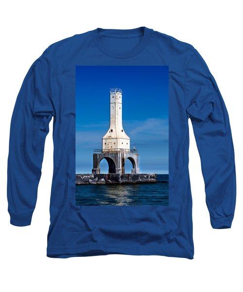 Lighthouse Blues Vertical Long Sleeve T-Shirt