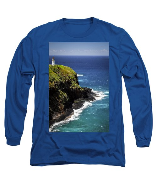 Long Sleeve T-Shirt featuring the photograph Lighthouse By The Pacific by Debbie Karnes