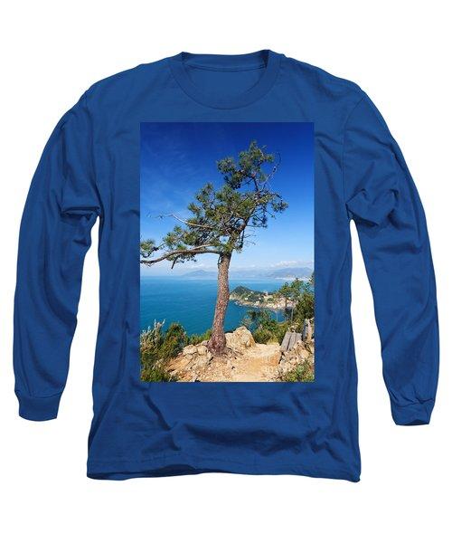 Long Sleeve T-Shirt featuring the photograph Liguria - Tigullio Gulf by Antonio Scarpi