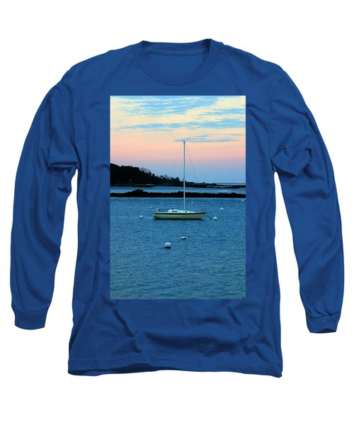 Lone Sailboat At York Maine Long Sleeve T-Shirt