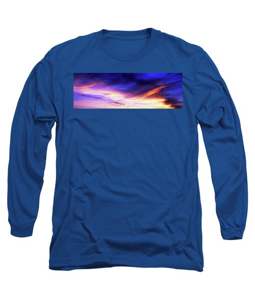 Low Angle View Of Sky At Sunset, Cape Long Sleeve T-Shirt