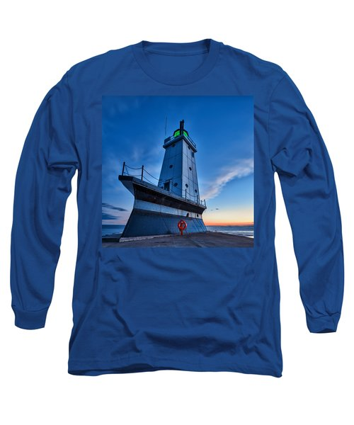 Long Sleeve T-Shirt featuring the photograph Ludington Lighthouse by Sebastian Musial