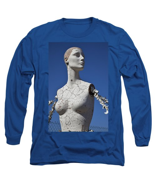Mannequin Against Blue Sky Long Sleeve T-Shirt