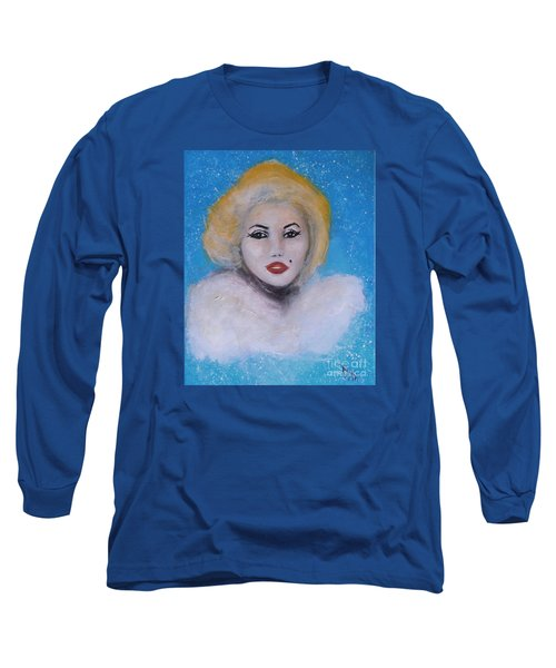 Marilyn Monroe Out Of The Blue Into The White Long Sleeve T-Shirt