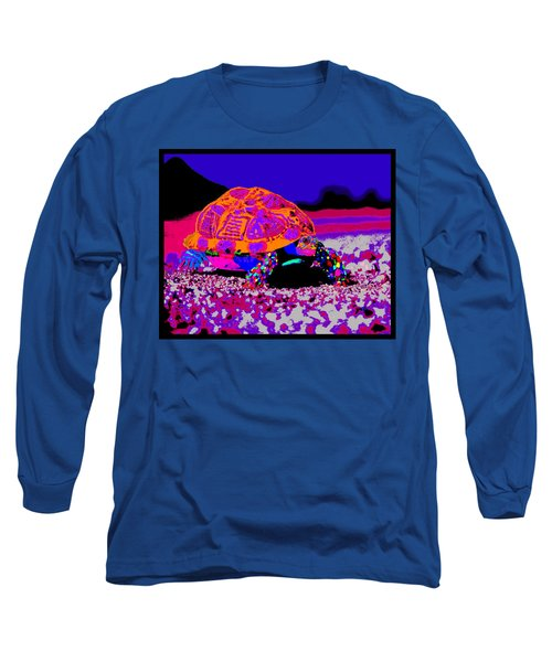 Marine Corporals Turtle In Peace Paint V3 Long Sleeve T-Shirt