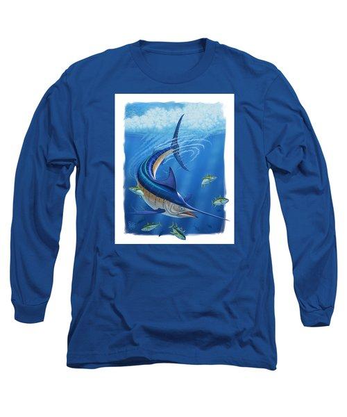Marlin Long Sleeve T-Shirt by Scott Ross