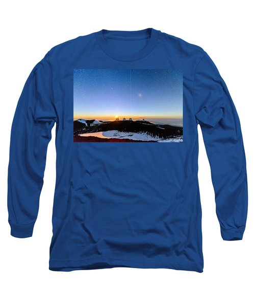 Mauna Kea Moonset 1 Long Sleeve T-Shirt