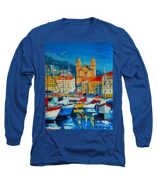 Mediterranean Harbor Long Sleeve T-Shirt