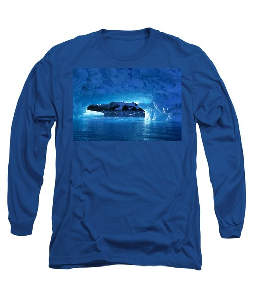 Melting Ice Cave Antarctica Long Sleeve T-Shirt