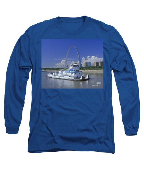 Memco Towboat In St Louis Long Sleeve T-Shirt by Garry McMichael