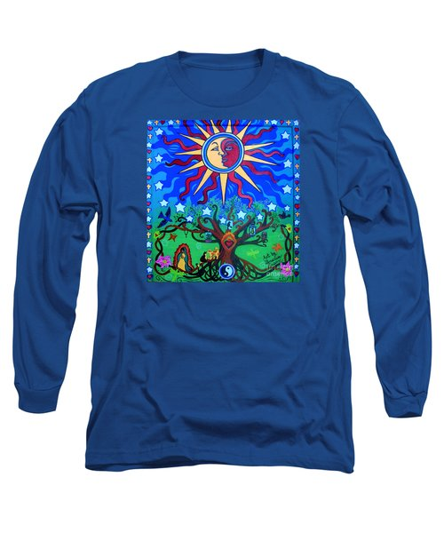 Mexican Retablos Prayer Board Small Long Sleeve T-Shirt