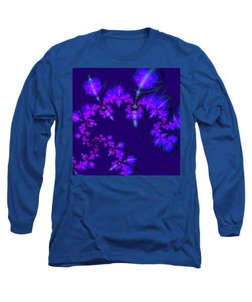 Long Sleeve T-Shirt featuring the digital art Midnight Blossoms by Judi Suni Hall