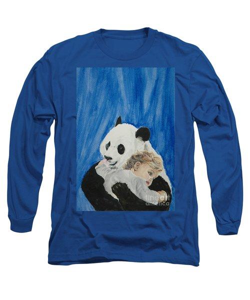 Mika And Panda Long Sleeve T-Shirt by Tamir Barkan