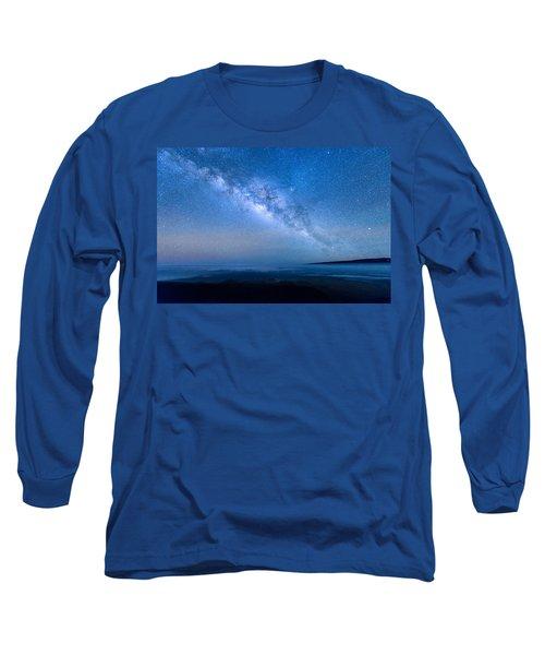 Milky Way Suspended Above Mauna Loa 1 Long Sleeve T-Shirt