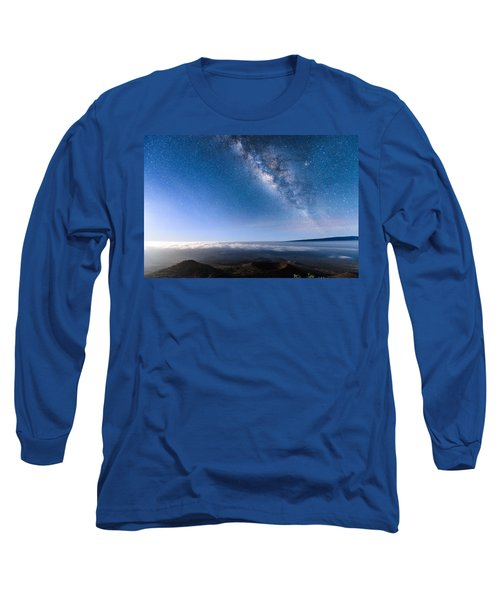 Milky Way Suspended Above Mauna Loa 2 Long Sleeve T-Shirt