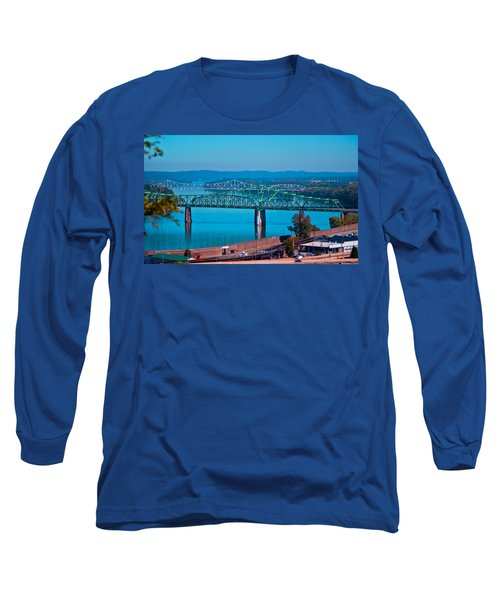 Miniature Bridge Long Sleeve T-Shirt by Jonny D