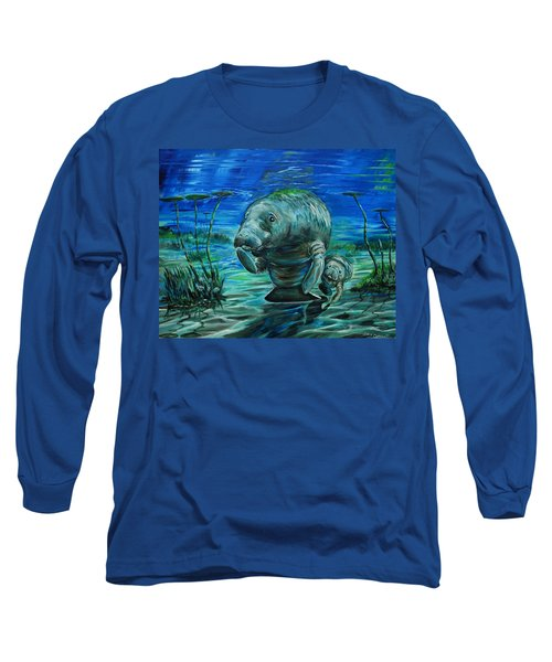 Momma Manatee Long Sleeve T-Shirt