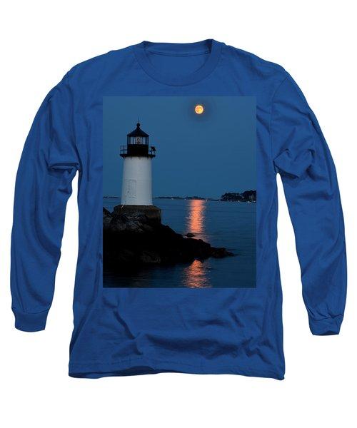 Moon Over Winter Island Salem Ma Long Sleeve T-Shirt