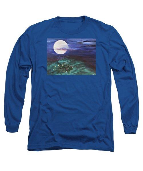 Moon Showers Long Sleeve T-Shirt by Cheryl Bailey