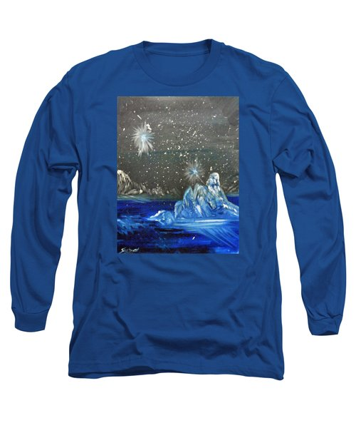Moon With A Blue Dress Long Sleeve T-Shirt