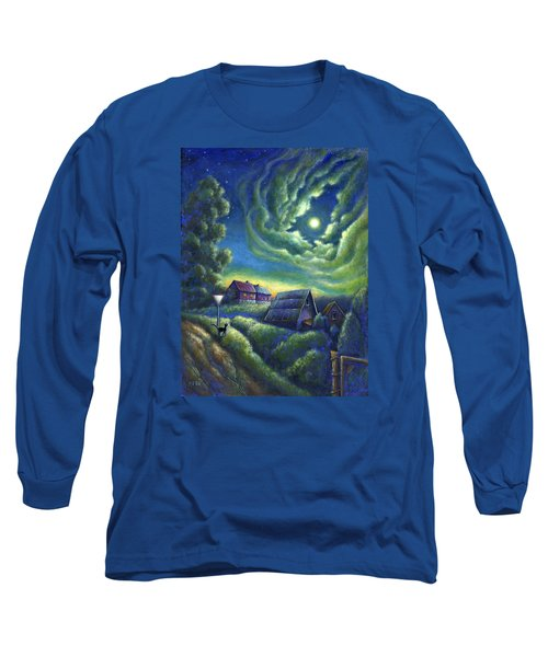 Moonlit Dreams Come True Long Sleeve T-Shirt by Retta Stephenson