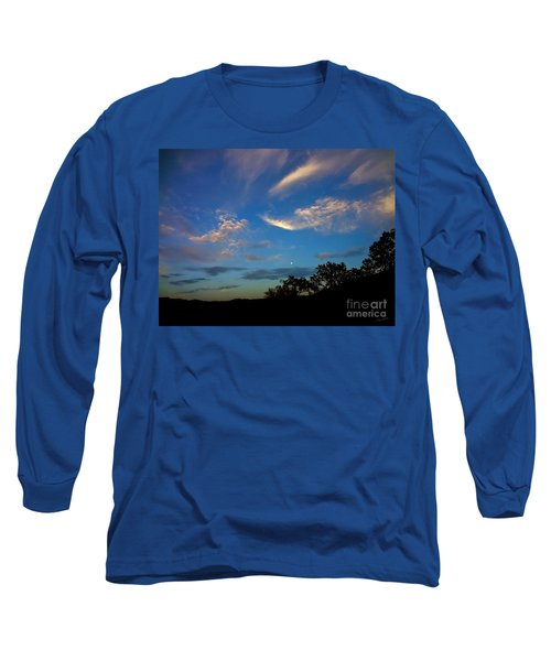 Moonrise Hill Long Sleeve T-Shirt by Gem S Visionary