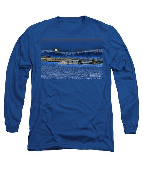 Moonset Over Cooney Long Sleeve T-Shirt