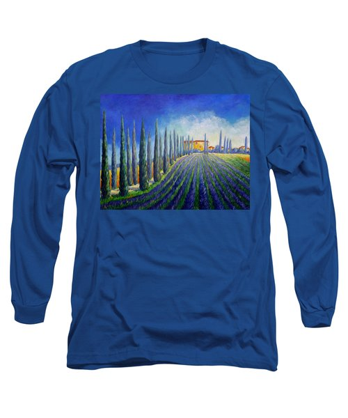 Lavender Field Long Sleeve T-Shirt